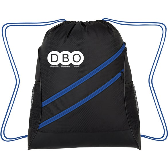 Black / Blue Swipe Drawstring Sports Pack