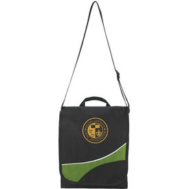 Swoosh Flap Messenger Bag Printed with Your Logo
