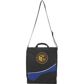 Swoosh Flap Messenger Bag Imprinted with Your Logo