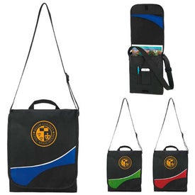 Swoosh Flap Messenger Bag with Your Logo