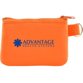 Taft Zip Pouch with Key Holder for Advertising