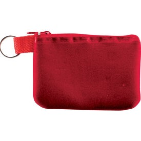 Custom Taft Zip Pouch with Key Holder