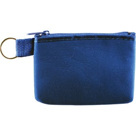 Monogrammed Taft Zip Pouch with Key Holder