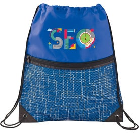 Tech Print Mesh Drawstring Sports Pack