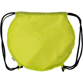 Advertising Tennis Ball Drawstring Backpack