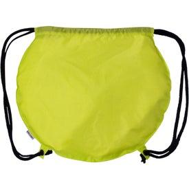 Advertising Tennis Ball Drawstring Backpack