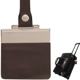 Terni Brown Leather Black Twill Nylon Trolley Bag Giveaways