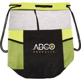 Advertising The Barrel of Fun Drawstring Bag