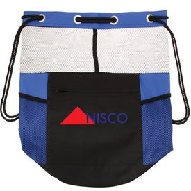 The Barrel of Fun Drawstring Bag Imprinted with Your Logo