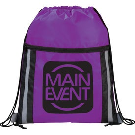 Personalized The Deluxe Reflective Drawstring Cinch