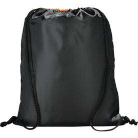 Peek Drawstring Backpack Imprinted with Your Logo
