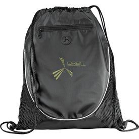 Imprinted Peek Drawstring Backpack