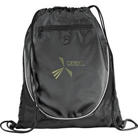 Imprinted Peek Drawstring Backpack