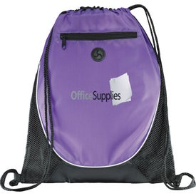 Peek Drawstring Backpack Branded with Your Logo