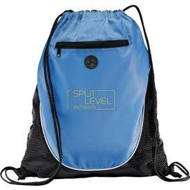 Logo Peek Drawstring Backpack