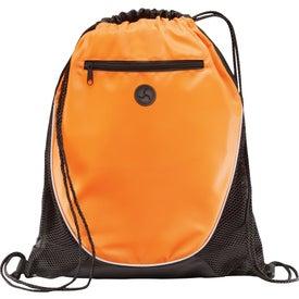 Branded Peek Drawstring Backpack