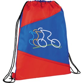 The Pennant Drawstring Cinch Backpack Branded with Your Logo