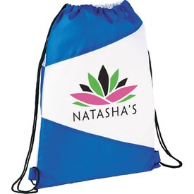 The Pennant Drawstring Cinch Backpack Printed with Your Logo
