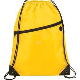 Imprinted The Robin Drawstring Backpack