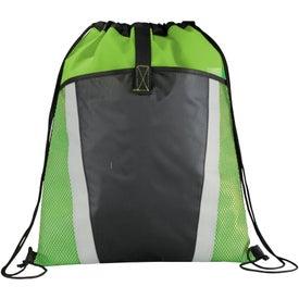 Logo The Vortex Drawstring Backpack