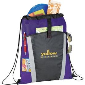 Monogrammed The Vortex Drawstring Backpack