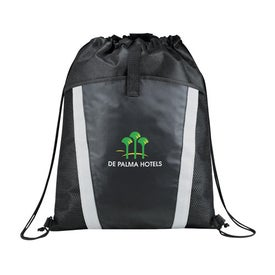 The Vortex Drawstring Backpack with Your Slogan