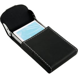 The Carinola Business Card Holder Imprinted with Your Logo