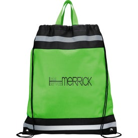 The Eagle Drawstring Backpack Imprinted with Your Logo