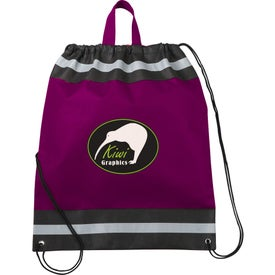 The Eagle Drawstring Backpack with Your Slogan