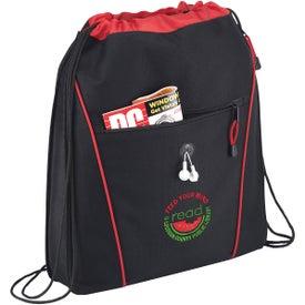 Logo The Raven Drawstring Backpack