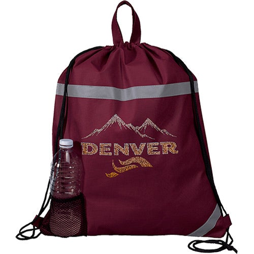 Sparkly Therm-O Drawstring Backpack
