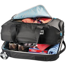 Imprinted Thule Crossover 56L Rolling Duffel