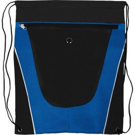 Tonal Mesh Drawstring Backpack for Marketing