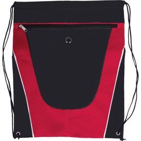 Advertising Tonal Mesh Drawstring Backpack