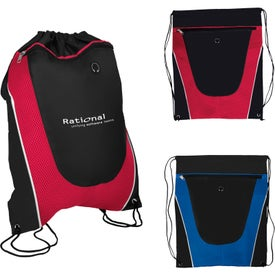 Tonal Mesh Drawstring Backpack