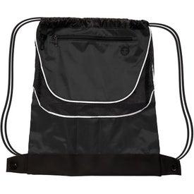 Custom Tournament Nylon Drawstring Backpack
