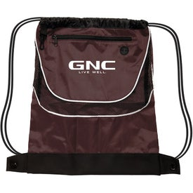 Tournament Nylon Drawstring Backpack with Your Slogan