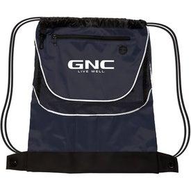 Tournament Nylon Drawstring Backpack Giveaways