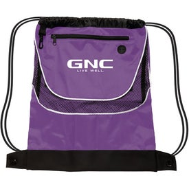 Tournament Nylon Drawstring Backpack Printed with Your Logo