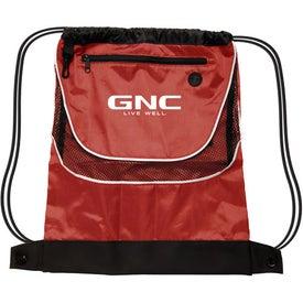 Imprinted Tournament Nylon Drawstring Backpack