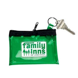 Translucent Vinyl Coin and Key Zippered Pouch for Your Organization