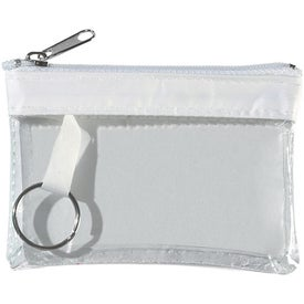 Custom Translucent Zippered Coin Pouch