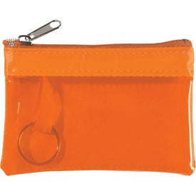 Translucent Zippered Coin Pouch for Your Organization