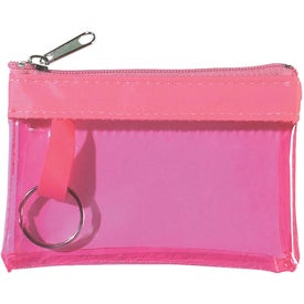 Company Translucent Zippered Coin Pouch