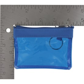 Translucent Zippered Coin Pouch for Customization