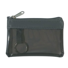 Imprinted Translucent Zippered Coin Pouch