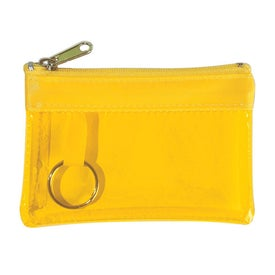 Translucent Zippered Coin Pouch for Promotion