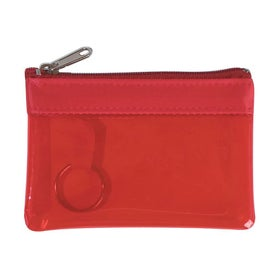 Translucent Zippered Coin Pouch for your School