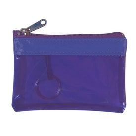 Translucent Zippered Coin Pouch for Advertising