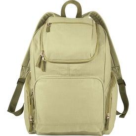 Monogrammed Trash Talking Recycled Backpack